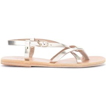 Shoes Women Sandals Ancient Greek Sandals Sandal Platinum colored semele in metallic leather Gold