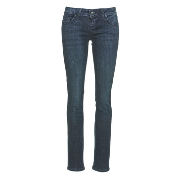 Clothing Women straight jeans LTB ASPEN Blue / Dark