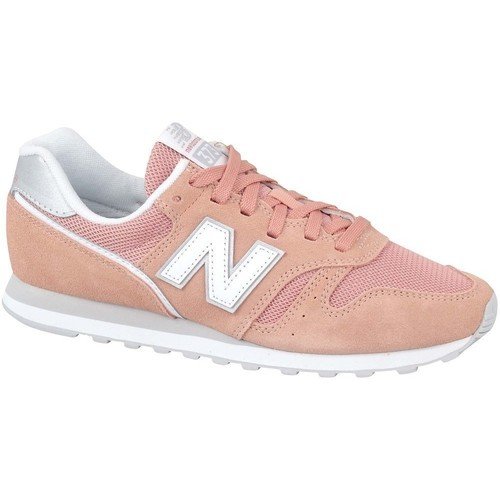 Shoes Women Low top trainers New Balance 373 White, Orange, Pink