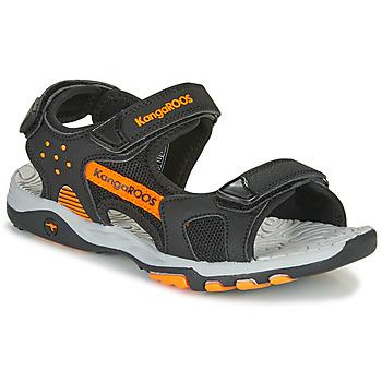 Shoes Boy Outdoor sandals Kangaroos K-Celtic Black / Orange