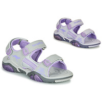 Shoes Children Outdoor sandals Kangaroos Sandalshine Grey / Purple