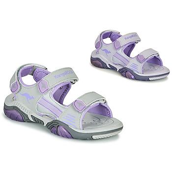 Shoes Children Outdoor sandals Kangaroos Sandalshine Grey / Purple