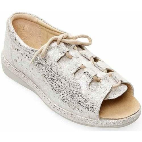 Shoes Women Sandals Padders Shoreline Womens Wide Fit Ssandals Silver