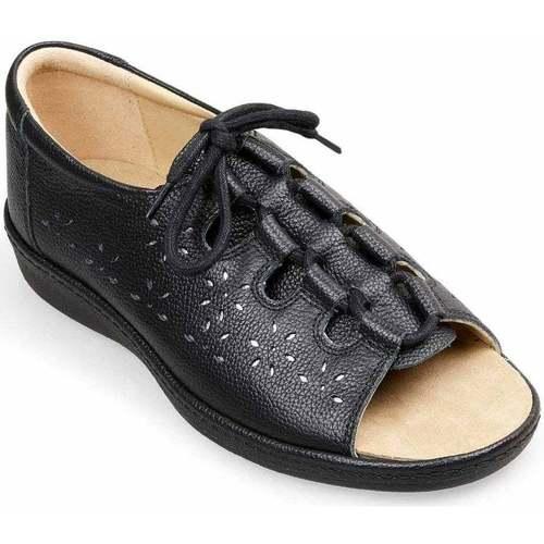 Shoes Women Sandals Padders Shoreline Womens Wide Fit Ssandals black