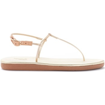 Shoes Women Sandals Ancient Greek Sandals Ancient Greek Katerina model thong sandal in gold leather Gold