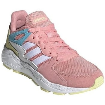 Shoes Girl Low top trainers adidas Originals Crazychaos J White,Beige,Pink