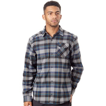 Clothing Men Long-sleeved shirts adidas Originals Flex Flannel Long Sleeved Shirt Grey
