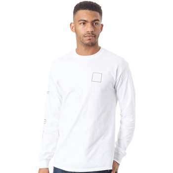 Clothing Men Long sleeved tee-shirts Chocolate White Line Chunk   Square Long Sleeved T-Shirt White