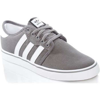 Shoes Men Low top trainers adidas Originals Ash-Footwear White-Core Black Seeley Shoe Grey