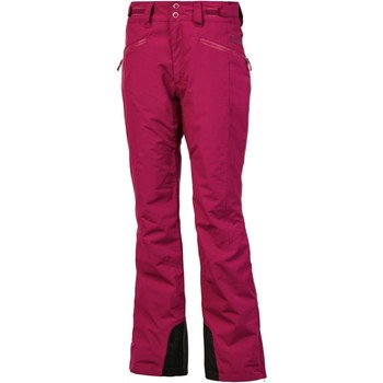 Clothing Women Wide leg / Harem trousers Protest Beet Red Kensington Womens Snowboarding Pants Red