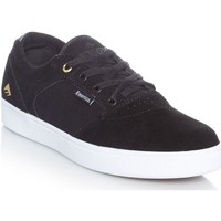 Shoes Men Low top trainers Emerica Black-White-Gold Figgy Dose Shoe Black