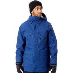 Clothing Men Parkas Oakley Dark Blue Snow Shell 15K 2 Layer Snowboarding Jacket Black