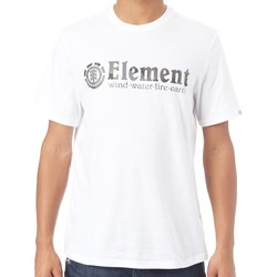 Clothing Men Short-sleeved t-shirts Element Bark Horizontal Optic White