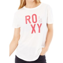 Clothing Women Short-sleeved t-shirts Roxy Marshmallow Sunset Lovers B Womens T-Shirt White