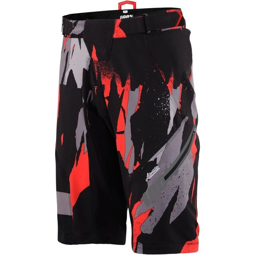 Clothing Men Shorts / Bermudas 100 Percent Black 2017 Airmatic Camo MTB Shorts Black