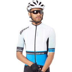Clothing Men Short-sleeved t-shirts Santini 2017 Photon 3.0 Short Sleeved Cycling Jersey White