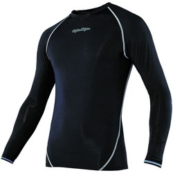 Clothing Men Long sleeved tee-shirts Troy Lee Designs Black Ace Long Sleeved Baselayer Top Black