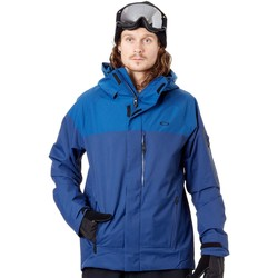 Clothing Men Parkas Oakley Dark Blue Shell 10K-2L Ski Jacket Blue