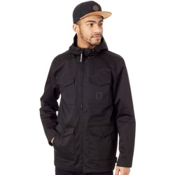Clothing Men Parkas DC Shoes Black Mastaford Water Resistant Jacket Black