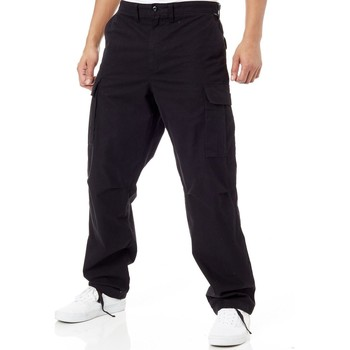 Clothing Men Cargo trousers Vans Black Depot Cargo Pant Black