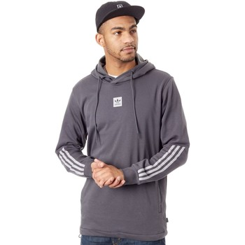 Clothing Men Fleeces adidas Originals Dgh Solid Grey-Light Granite Cornered Hoody Grey