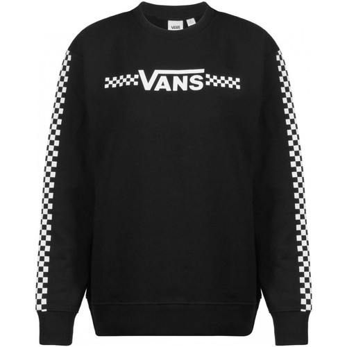 Clothing Women Sweaters Vans Black Funnier Times Crew Womens Sweater Black