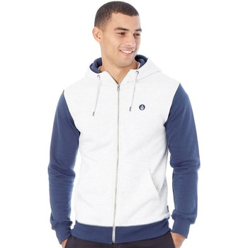 Clothing Men Fleeces Volcom Mist Single Stone Division Zip Hoody White