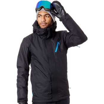 Clothing Men Jackets Protest True Black Theron Snowboarding Jacket Black