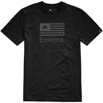 Clothing Men Short-sleeved t-shirts Emerica Black Pure Flag T-Shirt Black