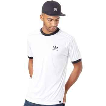 Clothing Men Short-sleeved t-shirts adidas Originals White-Black Clima Club T-Shirt White