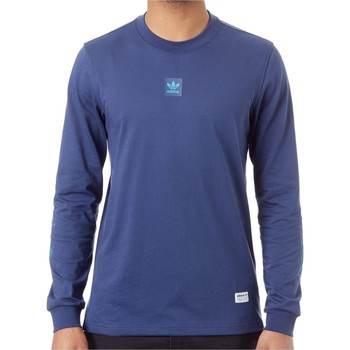 Clothing Men Long sleeved tee-shirts adidas Originals Noble Indigo Mesh Long Sleeved Jersey Blue