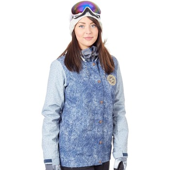 Clothing Women Parkas DC Shoes DCLA Womens Snowboarding Jacket Blue