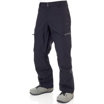 Clothing Men Tracksuit bottoms Oakley Blackout Snow Shell 10K 2 Layer Snowboarding Pants Black