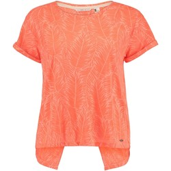 Clothing Women Short-sleeved t-shirts O'neill Fluoro Peach Crop Split Back Womens Top Orange