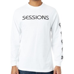 Clothing Men Long sleeved tee-shirts Sessions White Icon T-Shirt White