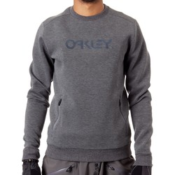 Clothing Men Sweaters Oakley Forged Iron Crewneck Scuba Snowboarding Sweater Grey