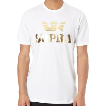 Clothing Men Short-sleeved t-shirts Supra White-Gold Above Regular T-Shirt White