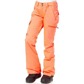 Clothing Women Trousers DC Shoes Fiery Coral FA17 Recruit Womens Snowboarding Pants Orange