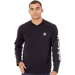 Clothing Men Long sleeved tee-shirts adidas Originals Black-White Rodge Long Sleeved T-Shirt Black