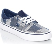 Shoes Women Low top trainers DC Shoes Blue-Blue-White Trase TX LE Womens Low Top Shoe Blue