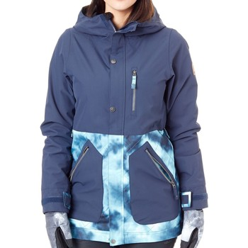 Clothing Women Parkas Nikita Navy- Tie Dye Sycamore Womens Snowboarding Jacket Black