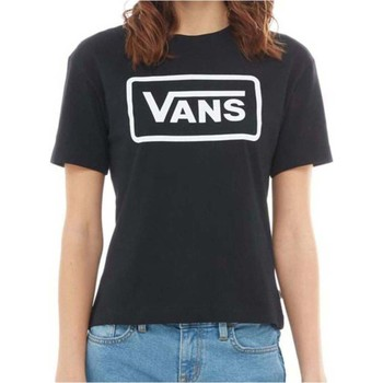 Clothing Women Short-sleeved t-shirts Vans Black Boom Boom Boxy Womens T-Shirt Black