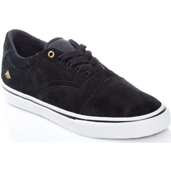 Shoes Men Low top trainers Emerica Black-White-Gold Provider Shoe Black