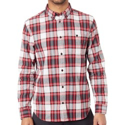 Clothing Men Long-sleeved shirts DC Shoes Tango Red Northboat Long Sleeved Shirt Red