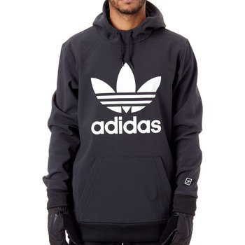 Clothing Men Fleeces adidas Originals Black-White Team Tech Snowboarding Hoody Black