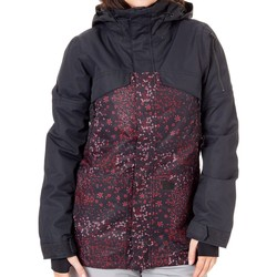 Clothing Women Parkas Volcom Vault 3-In-1 Womens Snowboarding Jacket Black