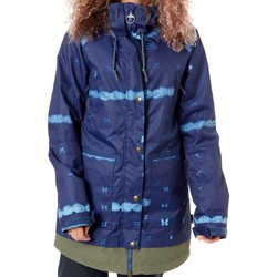 Clothing Women Parkas DC Shoes Dark Blue Mud Cloth B Riji Womens Snowboarding Jacket Blue