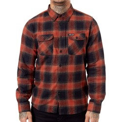 Clothing Men Long-sleeved shirts Sullen Road Rash Flannel Long Sleeved Shirt Red