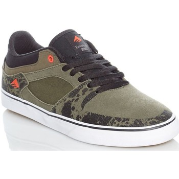 Shoes Men Low top trainers Emerica Green-Black-White The Hsu Vulc Shoe Green