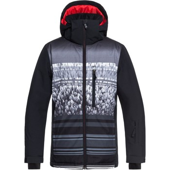 Clothing Boy Jackets Quiksilver Mission Engineered Kids Snowboarding Jacket Black